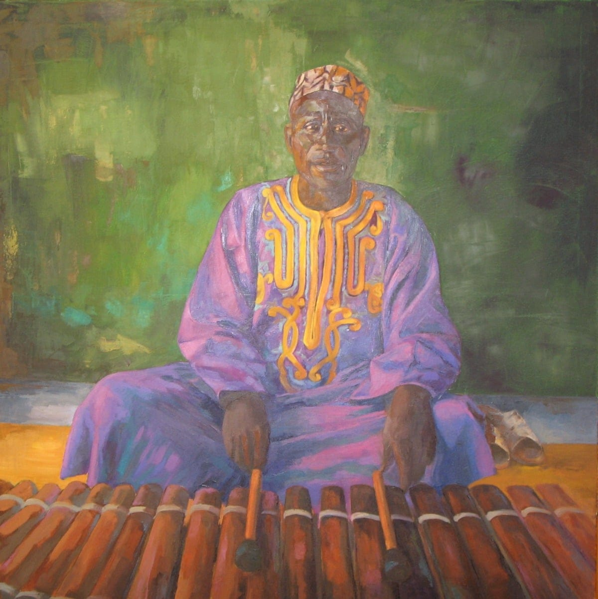 Huile : Musicien Africain